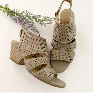 SOUL Naturalizer Dez Laser Cut Block Heel Sandal